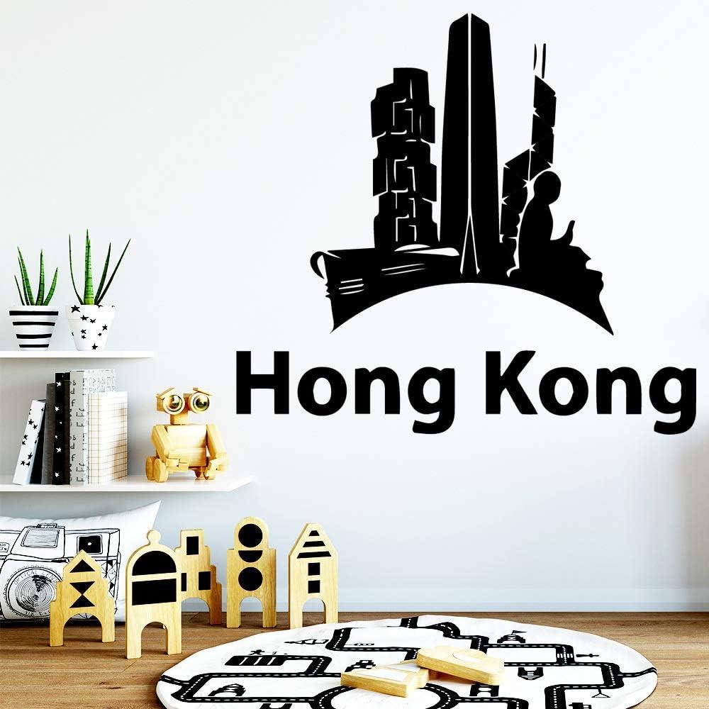 Hong Kong Adhesivos de pared Impermeable Wall Art Decor Vinyl Stickers Adhesivo Mural Vinilo Decorativo Adesivo De Parede SoftPink XL 57cm X 62cm