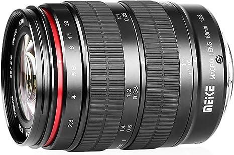 Meike - Objetivo Macro de 85 mm F/2.8 para cámaras réflex ...