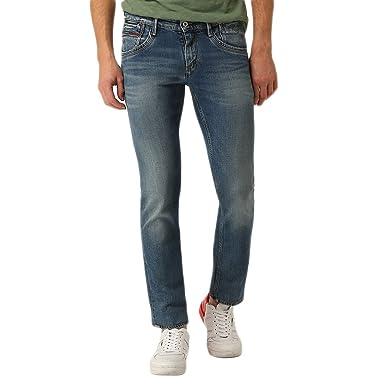 Tommy Hilfiger Slim Saber Jeans Longueur 32 Homme Bleu  Amazon.fr ... 4c4657f29681