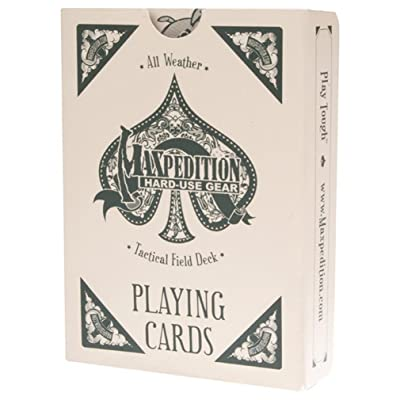 Maxpedition TACFIELDDECK Tactical Field Deck All Weather Playing Cards: Sports & Outdoors