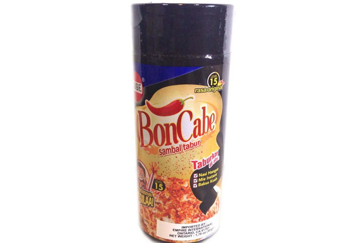 Bon Cabe Sambal Tabur (Chili Original Flavor Level 15) - 1.76oz (Pack of 1)