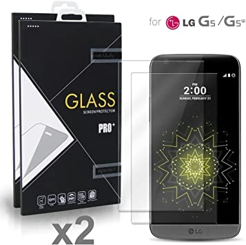 LG G5 / LG G5 SE Cristal Protector de pantalla (2 paquetes ...