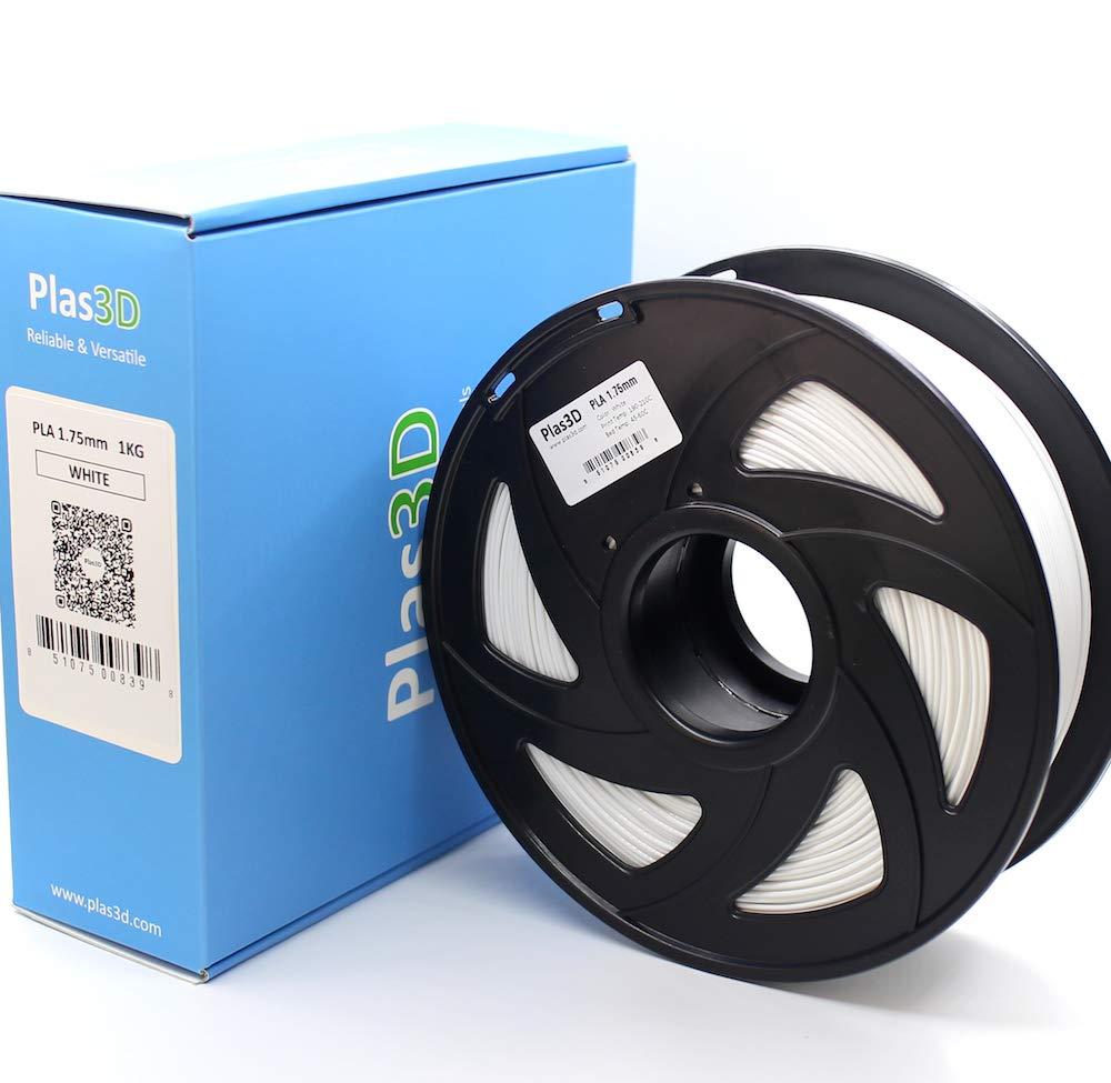 Plas3D PLA filamento blanco brillante 1.75 mm 1 kg, filamento para ...