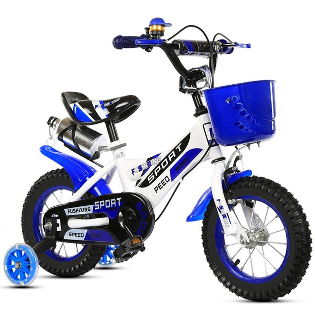 子供用自転車、カップ補助輪付き自転車の男の子の自転車ダンピングクリエイティブ多機能自転車の長さ88-121CM (色 : 青, サイズ さいず : 88CM) B07CWCQXM7 88CM|青 青 88CM