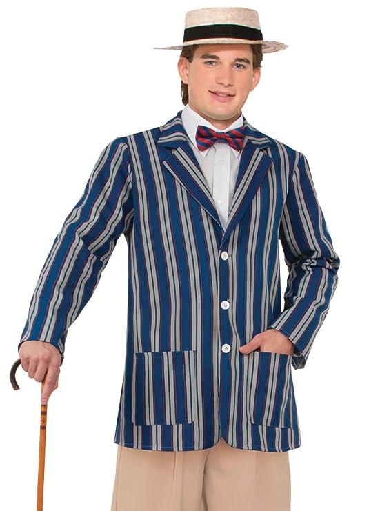 1920s Men's Costumes: Gatsby, Gangster, Peaky Blinders, Mobster, Mafia Forum Novelties Mens Roaring 20s Boater Jacket $28.99 AT vintagedancer.com