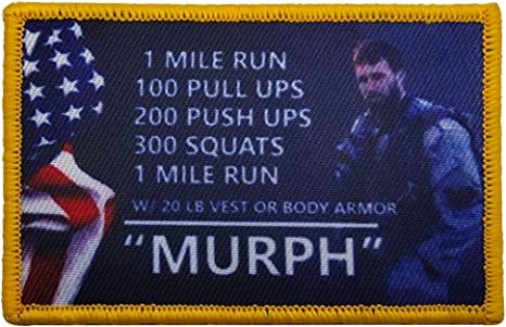 Military Patch The Murph Challenge Armband Badge Embroidery Tactical Morale