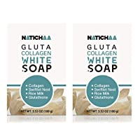 Glutathione & Collagen Whitening Soap ( 2 Pack ) - Reduce Wrinkles, Freckles, Dark...