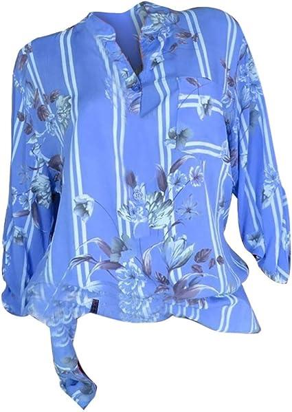 AIni Mujer Camisa Elegante Camisa De Manga Larga Retro Ropa De Mujer OtoñO Blusa con Cuello