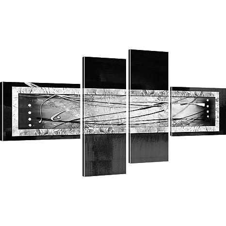 LEINWAND BILDER Abstrakt Streifen Bild Kunstdruck modern WANDBILDER XXL