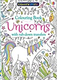 Mini Books Colouring Book Unicorns with Rub-Down Transfers