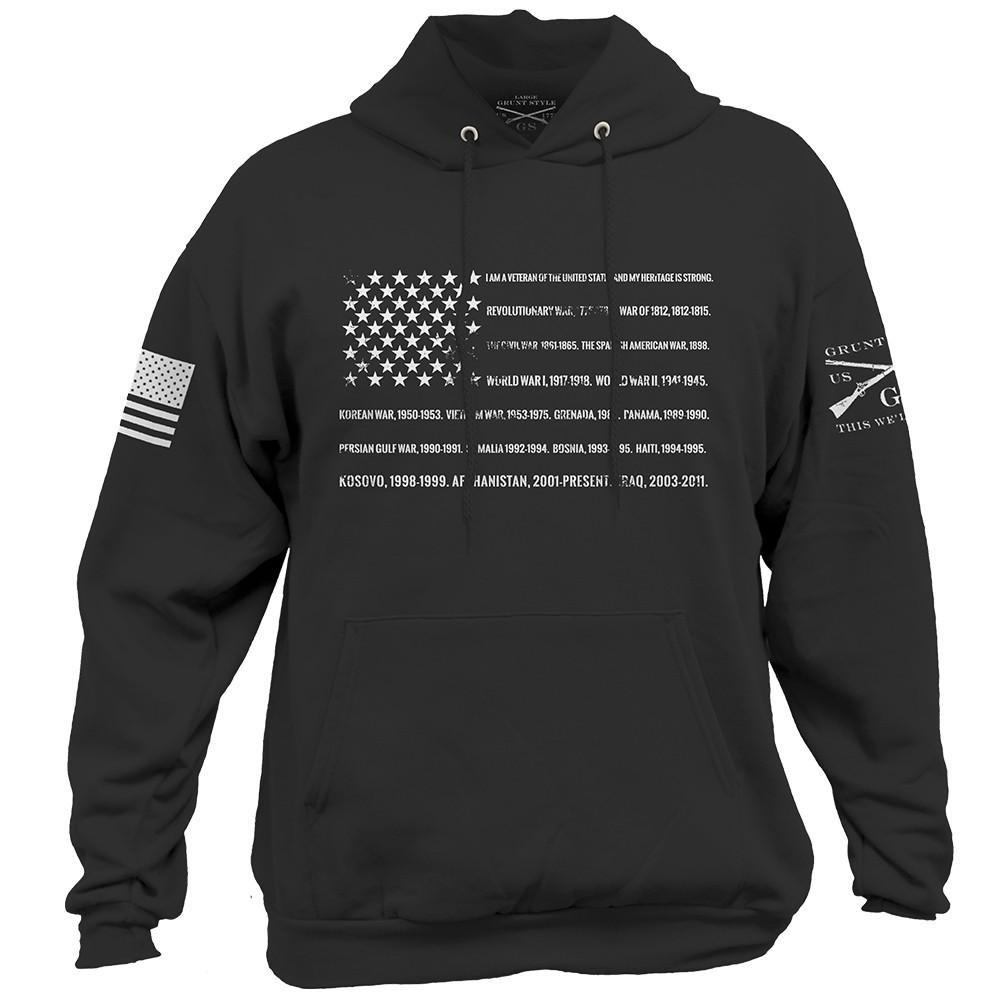 Grunt Style Veteran Men's Hoodie, Color Black, Size XXX-Large