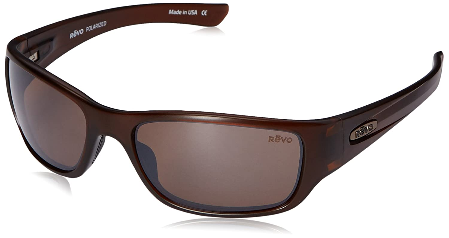 26e99f74fcd Revo RE4058-02BR RE4058 Heading Matte Brown - Terra Polarized Sunglasses   Amazon.co.uk  Clothing