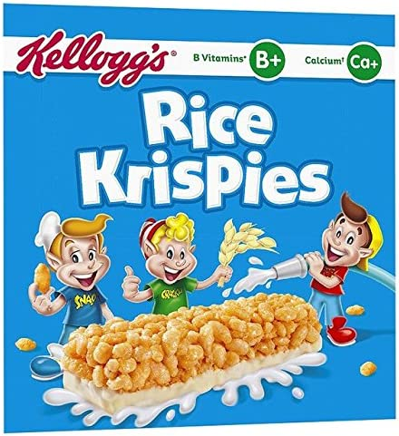 Rice Krispies Bares Leche Cereal de Kellogg 6 x 20g: Amazon.es: Hogar