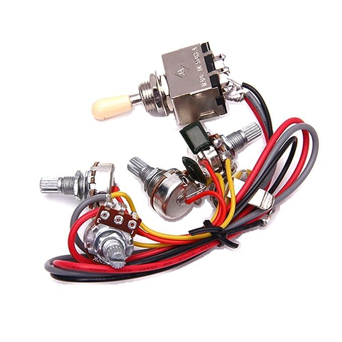 2v/2t/1j Cableado del Circuito LP Guitarra Electrica de 3 Cuadro Conmutador Selector de Pastillas: Amazon.es: Instrumentos musicales