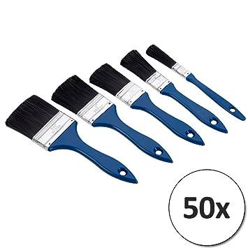 100 Malerpinsel Pinsel Set Flachpinsel Satz Pinselsatz 5 Gr/ö/ßen