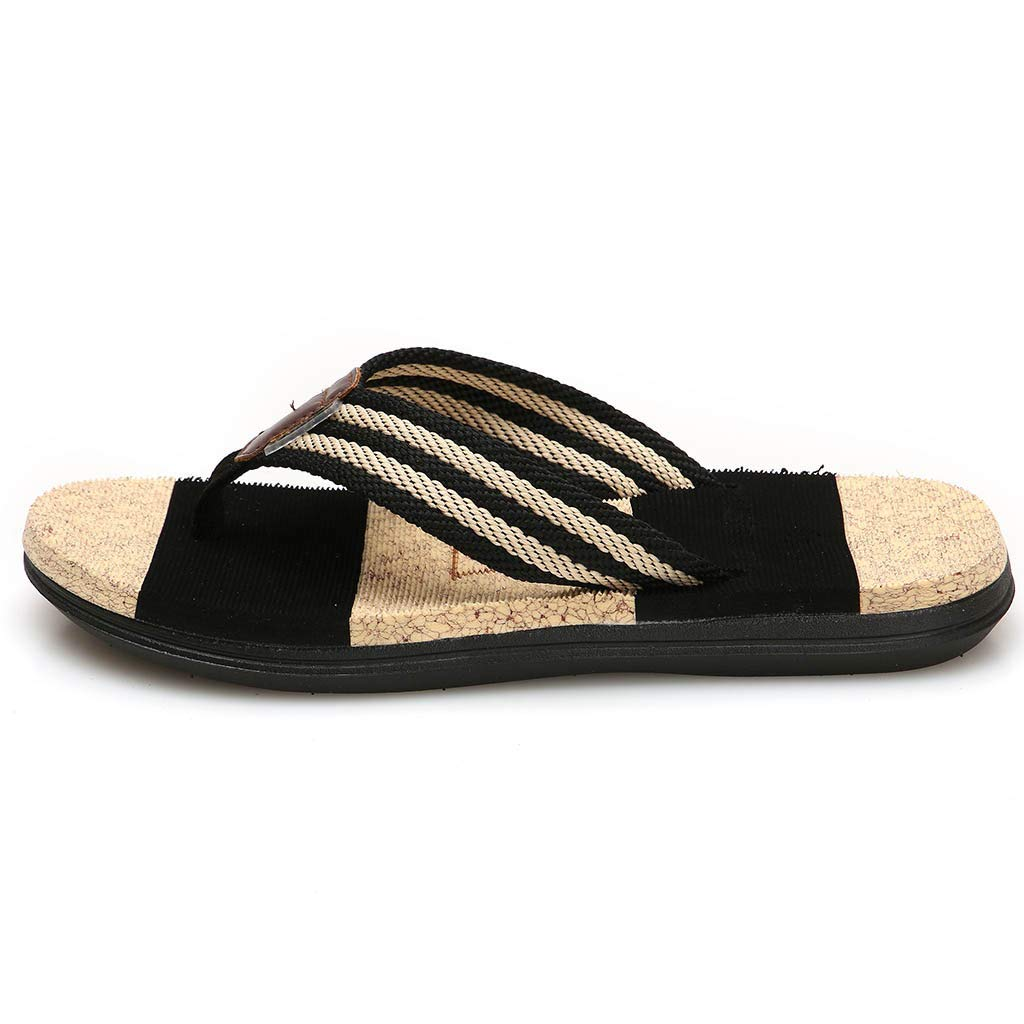 39aaf9a29e6 Amazon.com  Men s Flops Slippers HOSOME Men Fashion Couples Casual Flat  Flip Beach Striped Women Shoes  Clothing