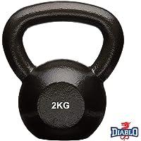 DIABLO Powder Coated Solid Cast Iron Kettlebell Weights (2Kg,4KG,5KG,6KG,8KG)