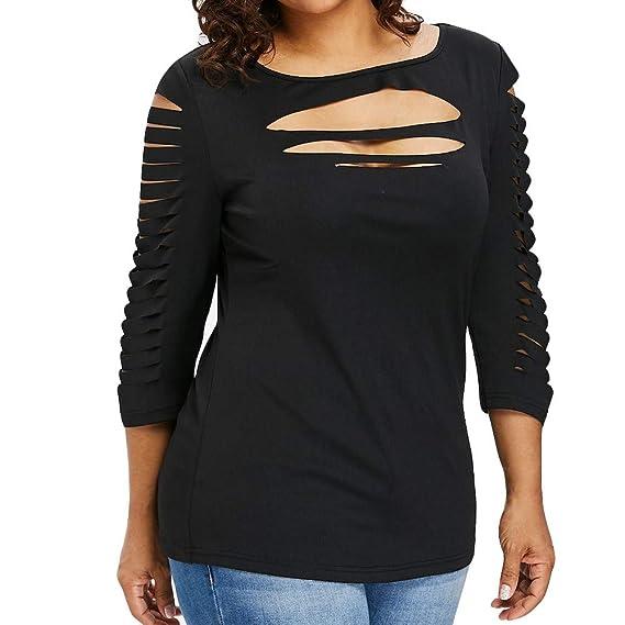 Moda Blusas para Mujers Camiseta de Bllouse del tamaño Extra Grande de la Moda para Mujer