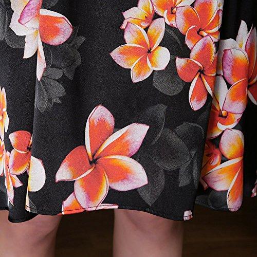 Size Black Cocktail Sleeveless Plus Silk DISSA Women Midi Summer Vintage Dress S2712 Cw0xXHqUF