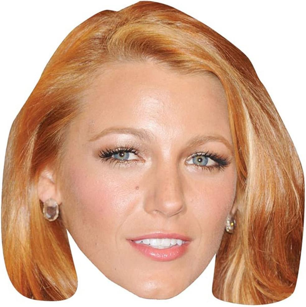 Blake Lively Celebrity Mask Card Face and Fancy Dress Mask