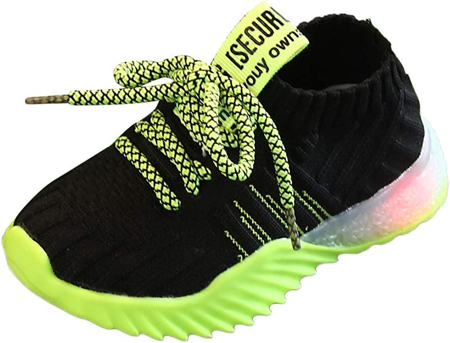 Childrens Trainers Girls Running Sneakers Diamante Sequin Lace Up Shoes Size NEW