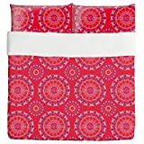 Mandala Kids Duvet Bed Set 3 Piece Set Duvet Cover - 2 Pillow Shams - Luxury Microfiber, Soft, Breathable
