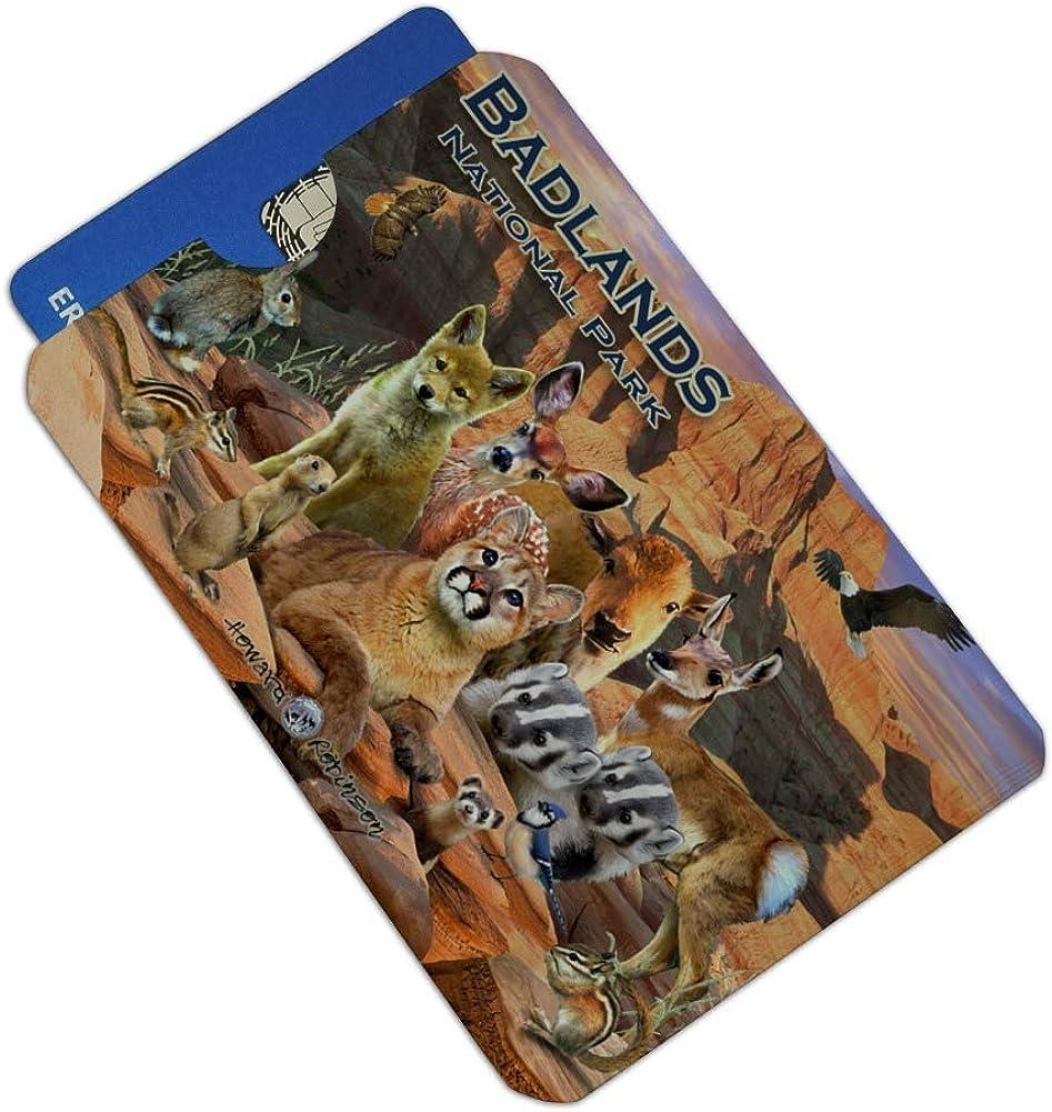 Badlands National Park South Dakota SD Animals Cougar Coyote Credit Card RFID Blocker Holder Protector Wallet Purse Sleeves Set of 4