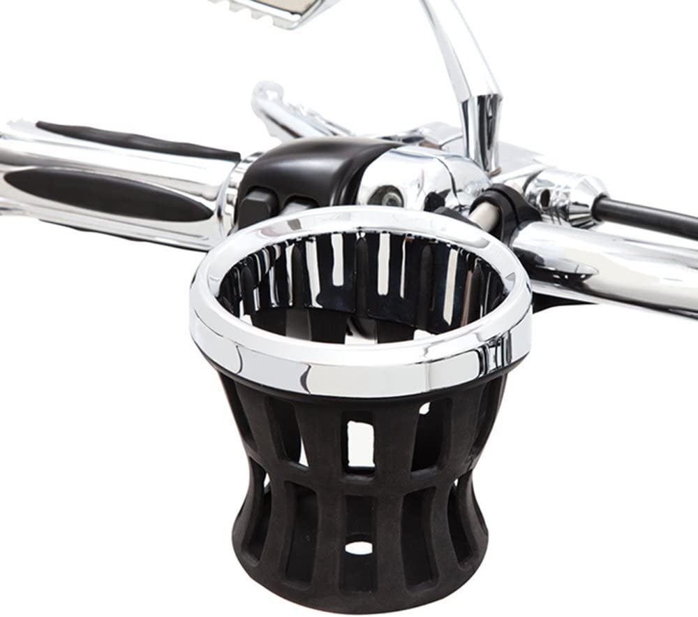 Ciro 50413 Drink Holder (Black Mount For Harley-Davidson Models)