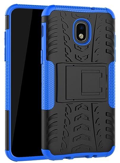 Samsung Galaxy J3 2018 Case,J3 Achieve,J3 Express Prime 3,Amp Prime 3,J3 Star,J3 Orbit, J3 V 3rd Gen, Yiakeng Shockproof Protective with Kickstand ...