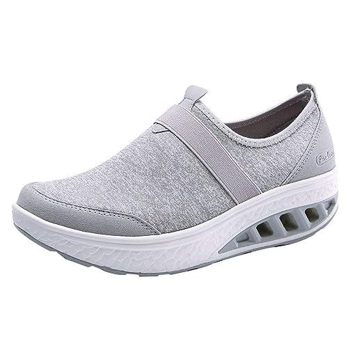 Rawdah Botas Mujer Invierno Botas de Mujer Zapatos Casuales para Mujeres Zapatos de balancín de Suela Gruesa con Suela de cuña Zapatos Mujer Plataforma: ...