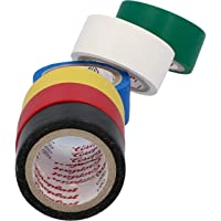 CARTREND 10526 Elektrische tape, gekleurd pvc, waterdicht, 6 kleuren, set isolatietape