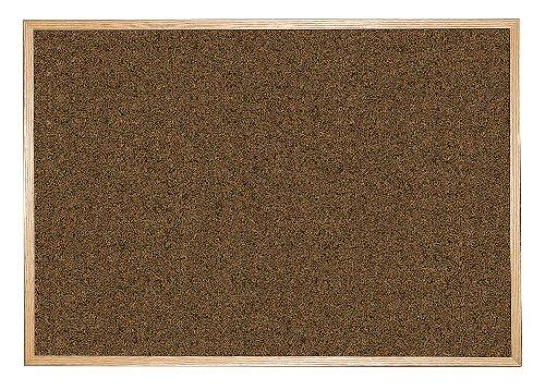 Balt/MooreCo - 300WG-92 - Blue Splash Cork Bulletin Board, Wood Frame Material, 72 Width, 48 Height -