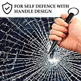 Keyring Aluminum Blunt Force in Black, Self Defense