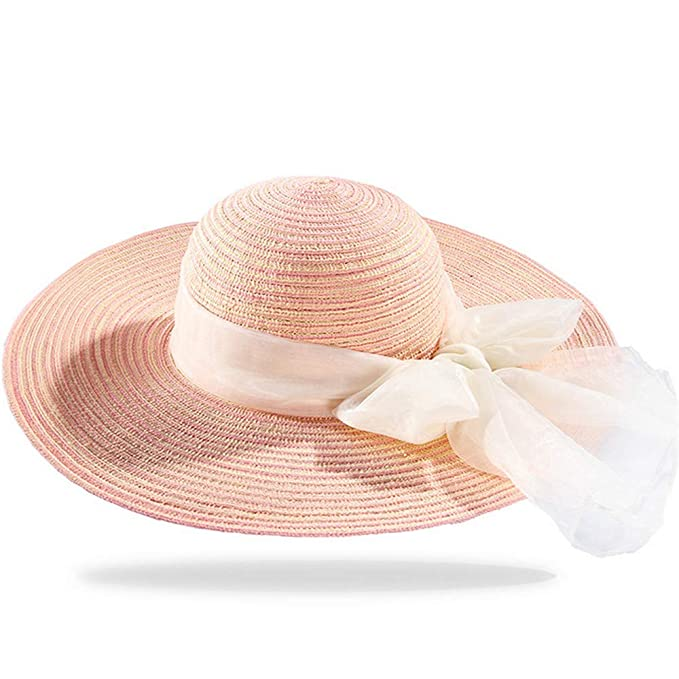 Sombrero de paja grande de verano elegante para adultos c0b4e6c56a8