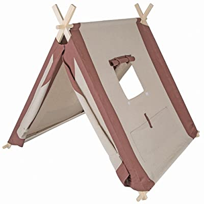 """Pacific Play Tents 60000 Kids Natural Linen A-Frame Teepee Playhouse - 45"""" x 42"""" x 35"""": Toys & Games"""
