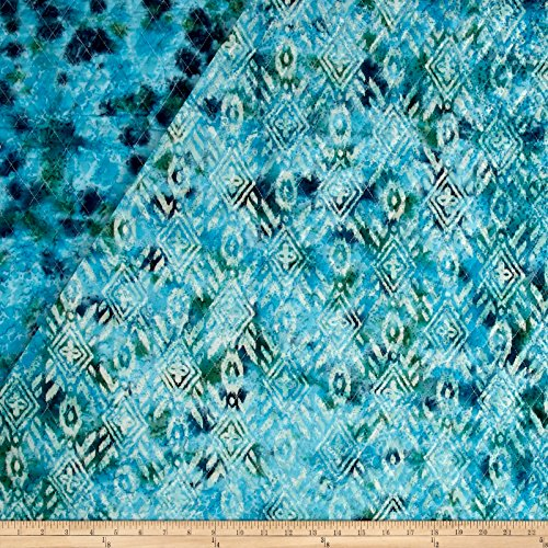 (Textile Creations Double Face Quilted Indian Batik Large Ikat Teal Fabric The Yard)