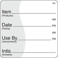 "DayMark Removable Item/Date/Use-by Shelf-Life Label, 2"" x 2"" (Roll of 500)"