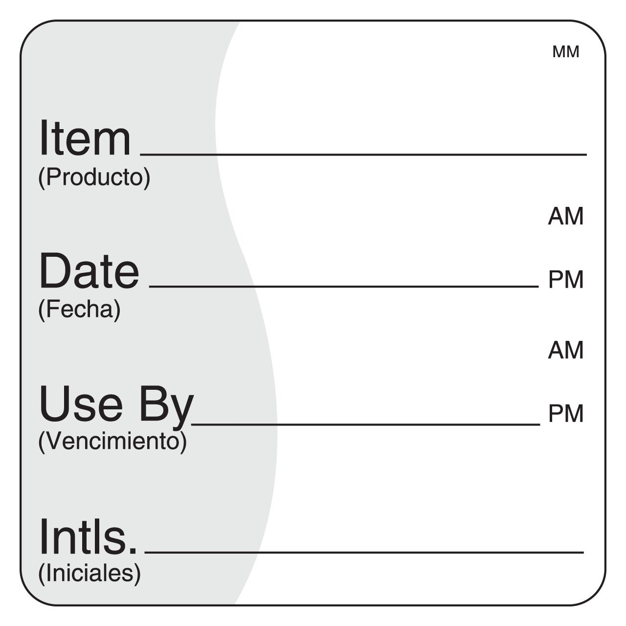 DayMark Removable Item/Date/Use-by Shelf-Life Label, 2'' x 2'' (Roll of 500) by DayMark Safety Systems