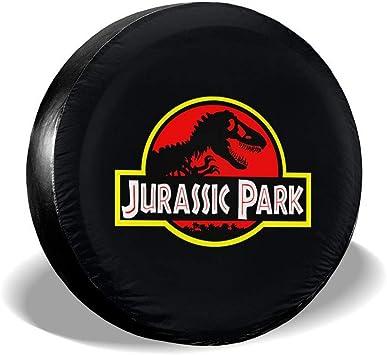 ASJOA484613 Jurassic Park Logo Tire Covers Waterproof Dust-Proof Tire Covers Wheel Cover 14-17inch