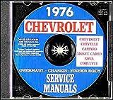 1976 CHEVROLET CAMARO FACTORY REPAIR SHOP & SERVICE MANUAL CD - INCLUDES: Standard Camaro, Berlinetta, Coupe, Z28, LT, Convertible, CHEVY 76