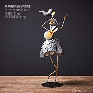 LIUSHI Figure Statue Craft Room Office Decoration Business Gifts Modern Ornaments Female Musician Group Arts Home Decoration Room Cabinet Desktop Decor-01