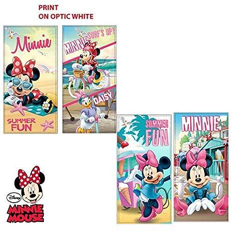 Disney Toalla Playa Niña Minnie Summer Fun cm. 70 x 140: Amazon.es: Hogar