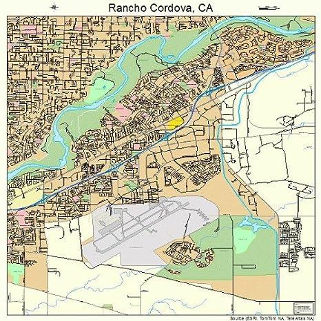 Rancho Cordova California Map.Amazon Com Large Street Road Map Of Rancho Cordova California Ca