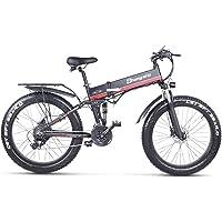 Sheng Milo Beach Bicicleta eléctrica 26 Pulgadas 1000W Crucero Todoterreno Carreras de montaña 21 velocidades 4.0…