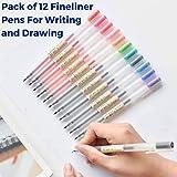 MUJI Style Gel Pens [0.5mm] 12 Colors Pack by