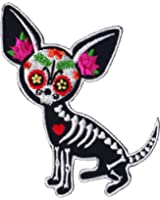 """Evilkid Chihuahua Muerta PATCH, Iron-On / Saw-On, Carded & Packaged Individually - 3.75"""" x 2.75"""""""