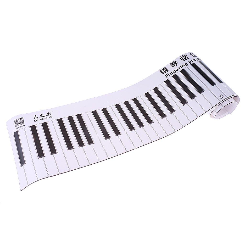 Classic Version 0755005660009FRA MagiDeal 88 Touche Clavier Autocollant Sticker Piano Simulation pour Débutant