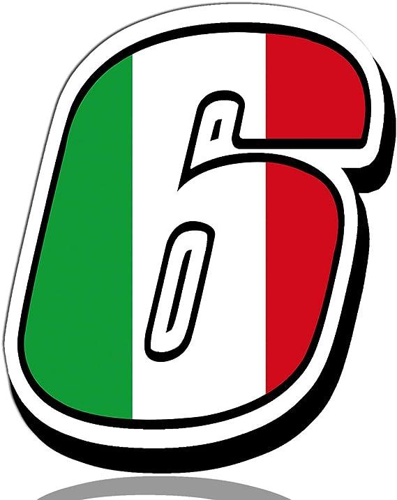 Biomar Labs Startnummer Nummern Auto Moto Vinyl Aufkleber Italien Nationalflagge Flagge Sticker Motorrad Motocross Motorsport Racing Nummer Tuning 6 N 316 Auto