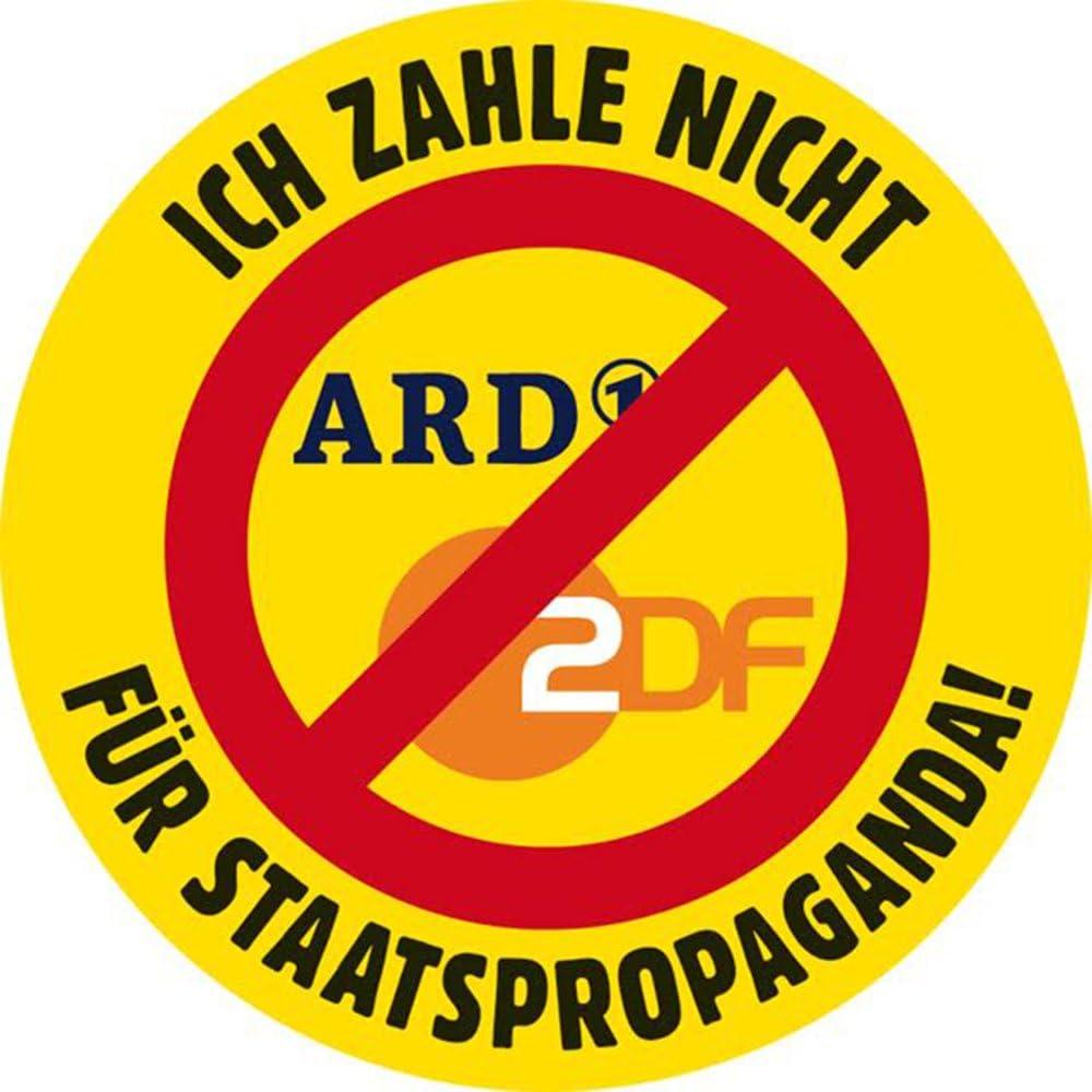 Ich zahle nicht f/ür Staatspropaganda Sticker Sticker-Set, 10 St/ück Aufkleber