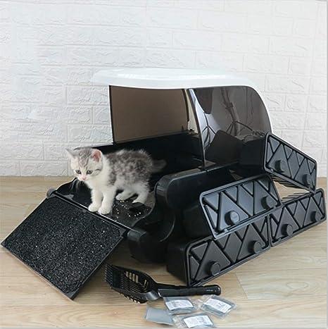 BEITAI Caja de arena para gatos ultra autolimpiante Aseo ...